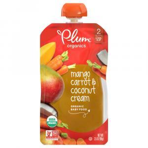 Plum Organics Stage 2 Mango, Carrot, and Coconut Cream