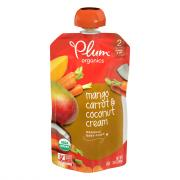 Plum Organics Stage 2 Mango, Carrot, and Coconut Cream