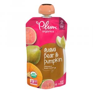 Plum Organics Stage 2 Guava, Pear, and Pumpkin