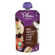 Plum Organics Stage 2 Apple, Blackberry, Coconut Cream, Oat