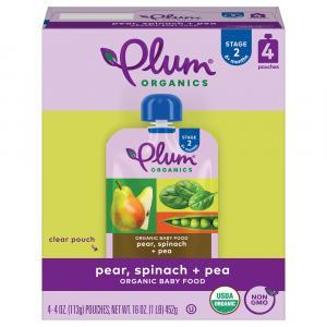 Plum Organics Pear, Spinach & Pea Baby Food