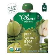 Plum Organics Pear, Spinach & Pea Baby Food