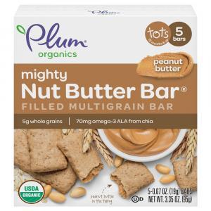 Plum Organics Mighty Nut Butter Bar Peanut Butter