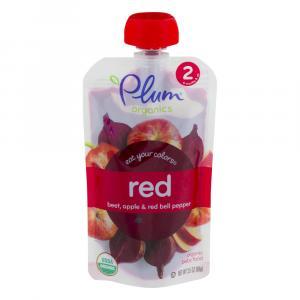 Plum Organics 2 Eat Your Colors Red - Beet, Apple