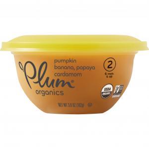Plum Organics Pumpkin, Banana, Papaya, And Cardamom Bowl