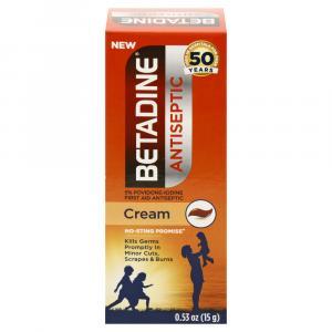 Betadine 5% Povidone-iodine First Aid Antiseptic Cream