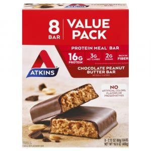 Atkins Chocolate Peanut Butter Bar Value Pack