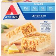 Atkins Lemon Snack Bar