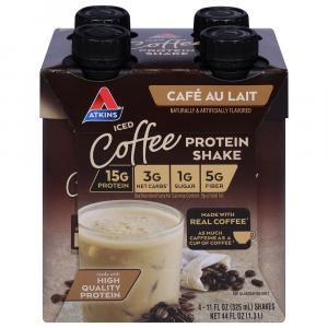 Atkins Iced Coffee Protein Shake Cafe Au Lait