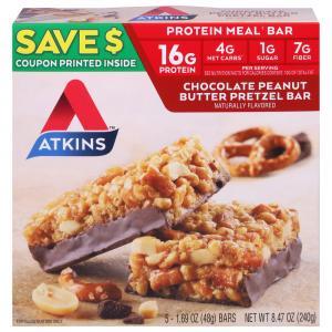 Atkins Chocolate Peanut Butter Pretzel Bars