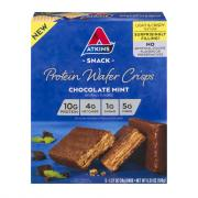 Atkins Snack Protein Wafer Crisps Chocolate Mint
