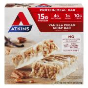 Atkins Vanilla Pecan Crisp Meal Bar