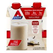Atkins Meal Ready to Drink Hi Protein Vanilla Cream Shakes
