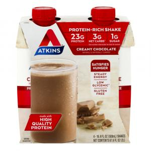 Atkins Meal Ready To Drink Hi Protein Creamy Chocolate Shake