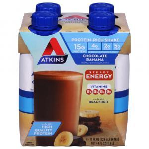 Atkins Meal Ready to Drink Chocolate Banana Shakes