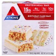 Atkins Birthday Cake Bars