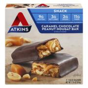Atkins Caramel Chocolate Peanut Nougat Bars