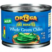 Ortega Fire Roasted Whole Green Chiles