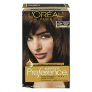 L'Oreal Preference #4SM Dark Soft Mahogany Brown Hair Color