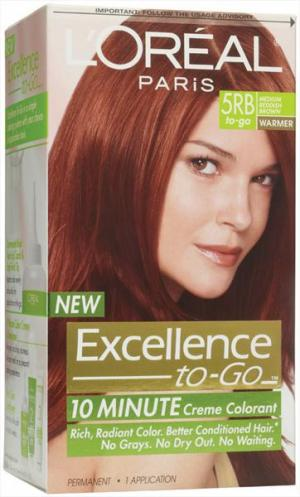L'oreal Excellence To Go 5rb Medium Reddish Brown Hair Color
