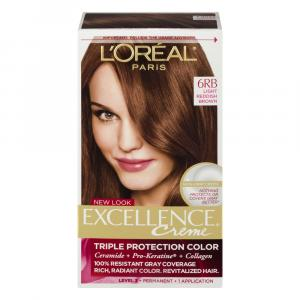 L'oreal Excellence Creme #6rb Light Red Brown Hair Color