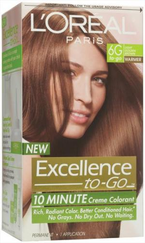 L'oreal Excellence To-go 6g Light Golden Brown Hair Color
