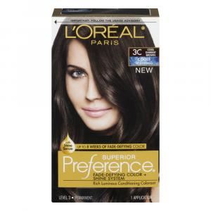 L'Oreal Preference #3C Cool Darkest Brown Hair Color