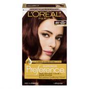 L'Oreal Preference #4M Dark Mahogany Brown Hair Color