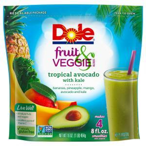 Dole Fruit & Veggie Blends Tropical Avocado with Kale