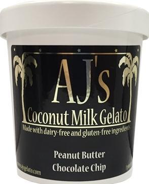 AJ's Coconut Milk Gelato Peanut Butter Chocolate Chip
