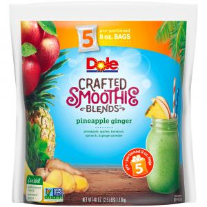 Dole Smoothie Blends In Bag Pineapple Ginger