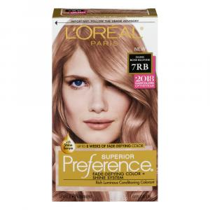 L'Oreal Preference #7RB Dark Rose Blonde Hair Color