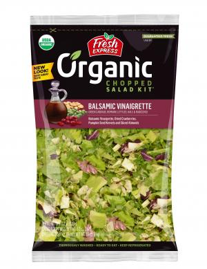 Fresh Express Organic Chopped Balsamic Vinaigrette Salad Kit