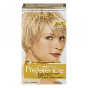 L'Oreal Preference #9.5A Extra Light Ash Blonde Hair Color