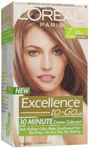 L'oreal Excellence To Go 7 Dark Blonde Hair Color