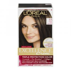 L'Oreal Excellence Creme 4A Dark Ash Brown Hair Color