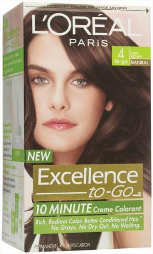 L'oreal Excellence To-go #4 Dark Brown Hair Color