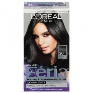 L'oreal Feria #20 Shimmering Natural Black Hair Color