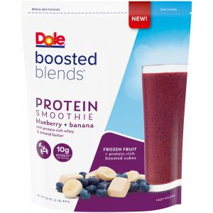 Dole Boosted Blends Protein Blueberry Banana Smoothie