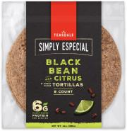 Simply Especial Black Bean and Citrus Tortillas