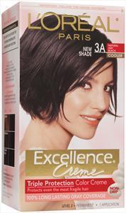 L'oreal Excellence Creme #3a Ash Black Hair Color