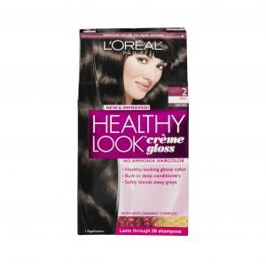 L'oreal Healthy Look Black Cafe Noir #2 Hair Color