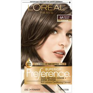 L'Oreal Preference #6A Light Ash Brown Hair Color