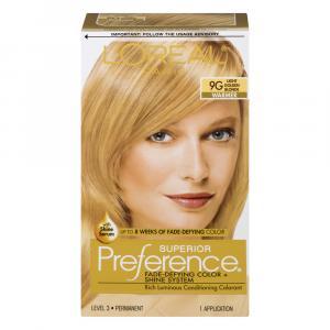 L'Oreal Preference #9G Golden Blonde Hair Color