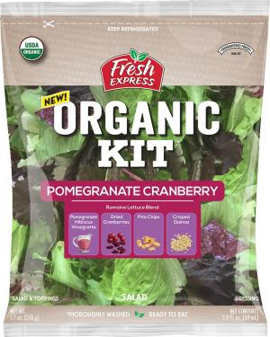 Fresh Express Organic Pomegranate Cranberry Salad Kit