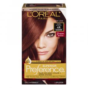 L'Oreal Preference #4R Dark Auburn Hair Color