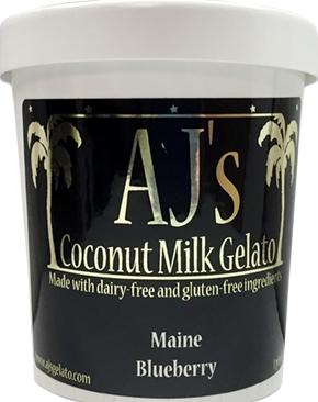 AJ's Coconut Milk Gelato Maine Blueberry