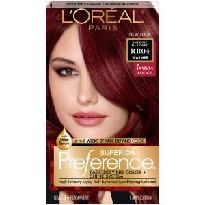 L'oreal Preference #rr04 Intense Dark Red Color