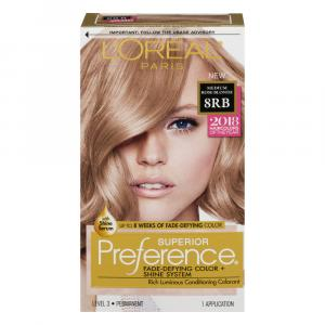 L'Oreal Preference #8RB Medium Rose Blonde Hair Color