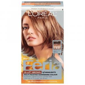 L'Oreal Feria #B61 Hi-Lift Downtown Brown Hair Color